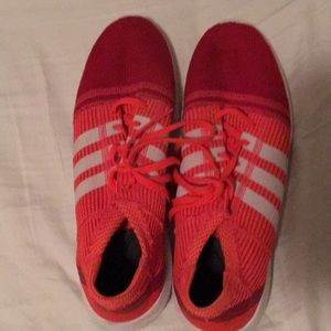 Orange adidas running shoes! Gently used!